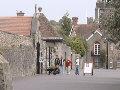 Shaftesbury - entrance to Abbey