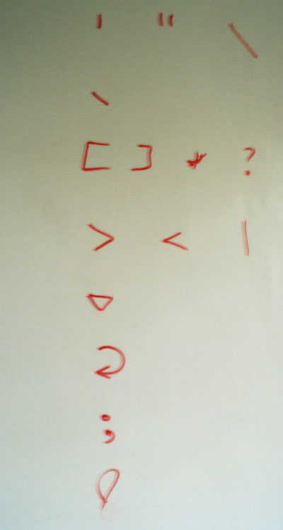 Special Characters in Shell programming