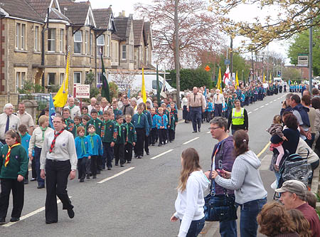 Scouts march in Melksham