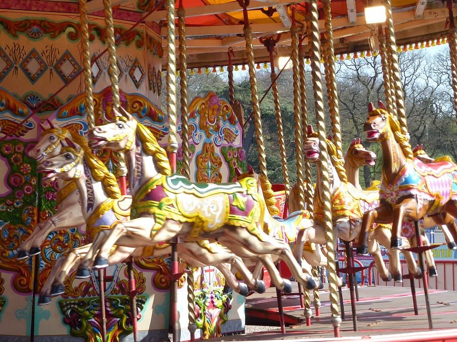 Gallopers at Trentham Gardens