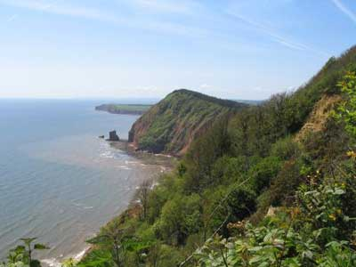 South Devon coast near Sidmouth