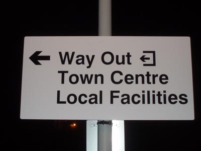 Sign in car park at Melksham Station