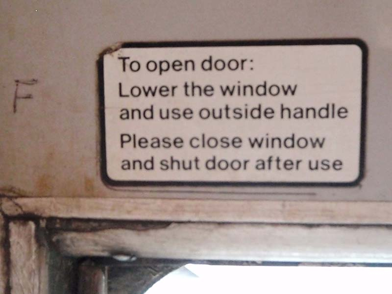Door operating Instructions