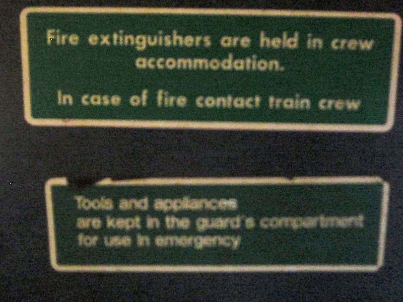 More Emergency Instructions