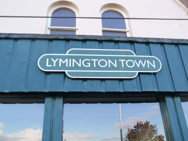 Station Totem sign - Lymington Town