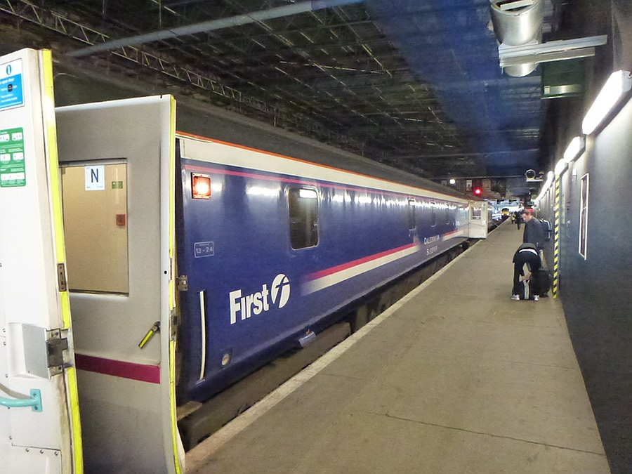Sleeper train in Edinburgh