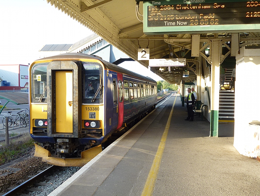 Westbury to Swindon train