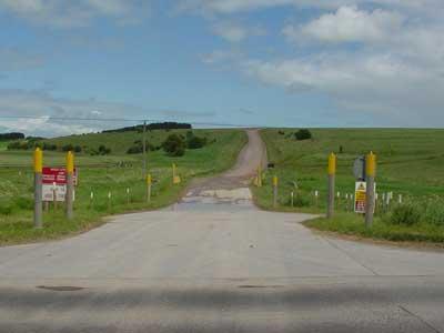 An Army road on Salisbury Plain