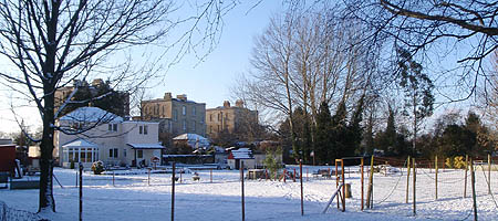 Melksham Spa in the snow