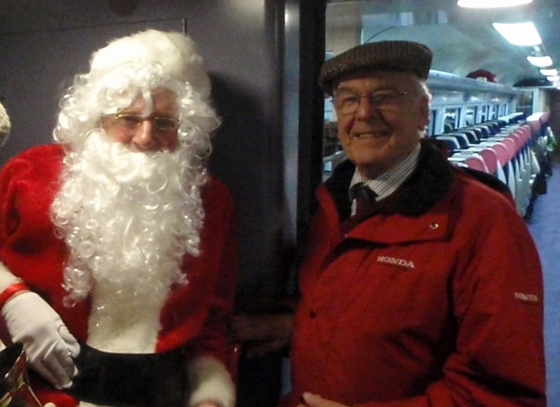 Santa Claus with Peter Blackburn, chair of MRDG