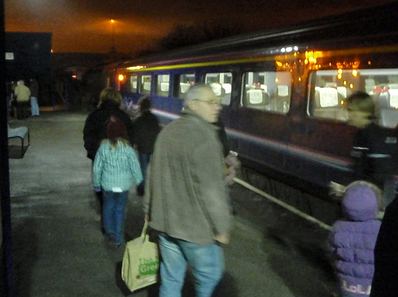 Leaving the train after a great trip