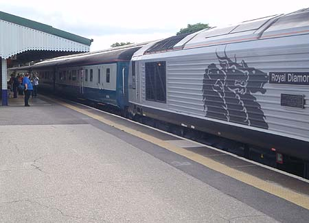 Train at Westbury for Weymouth