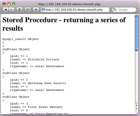 Stored procedures in Mysql