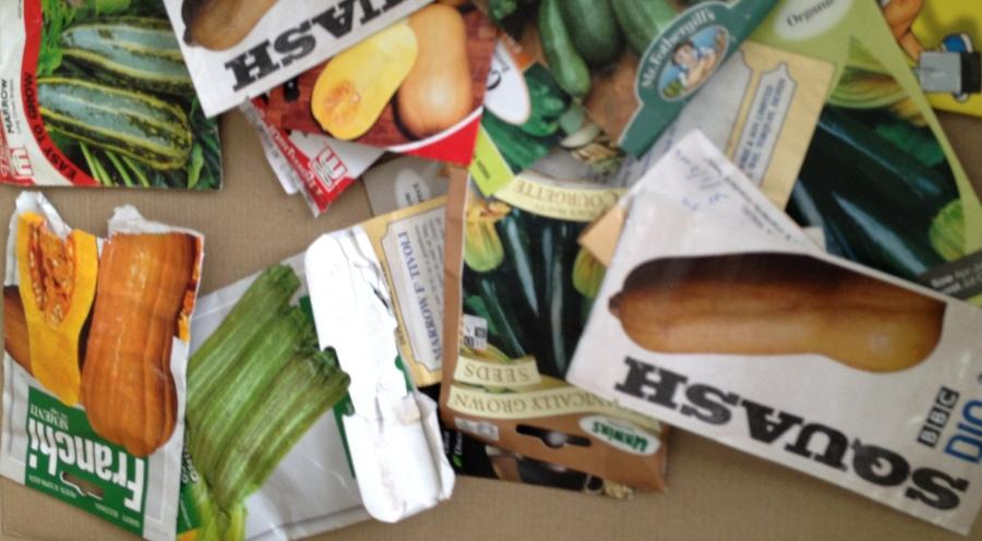 Seed swap - vegetable table