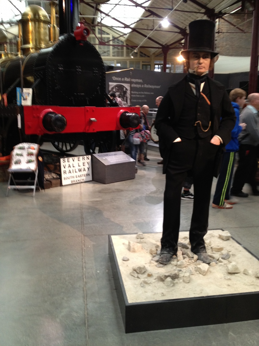 Brunel and a broad gauge locomotive