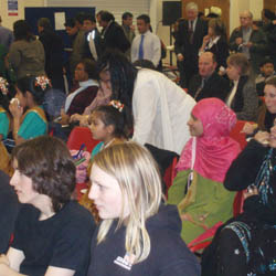 At an event in Swindon