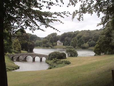 The bridge over the lake at Stourhead
