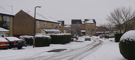 Snow scene in Melksham
