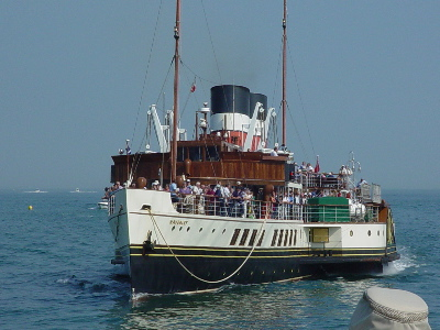Paddle Steamer Waverly at Swanage