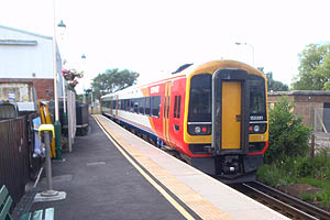 South West Trains class 158 diesel unit at Lymington Town