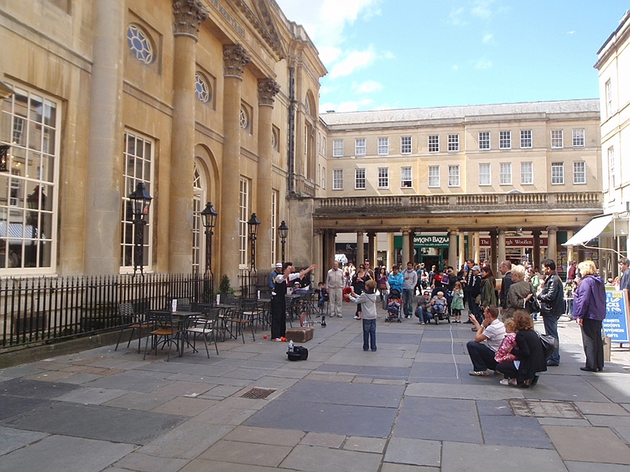 Outside the Pump rooms, Bath