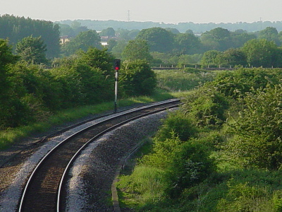 The Weymouth line at Thingley