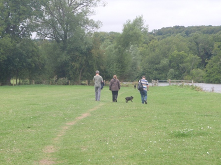 On the Thames path bewteen Mapledurham and Pangborne