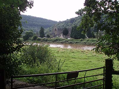Tintern Abbey from across the river Wye