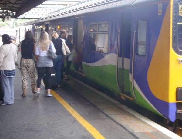 Exeter St Davids - this train for Cardiff