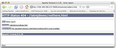 Error page 404 / standard / Tomcat