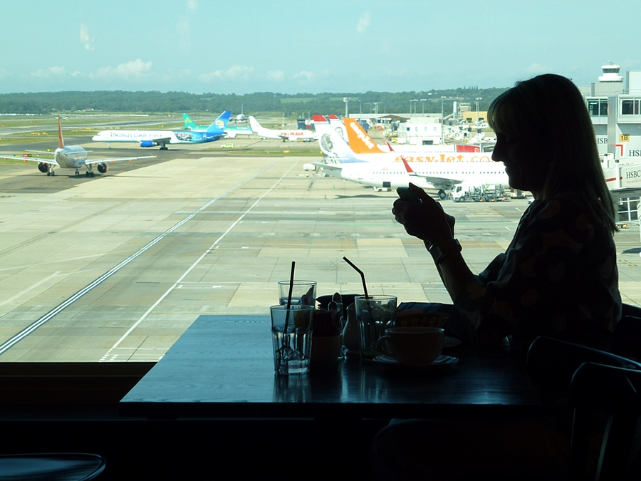 Waiting to leave Gatwick