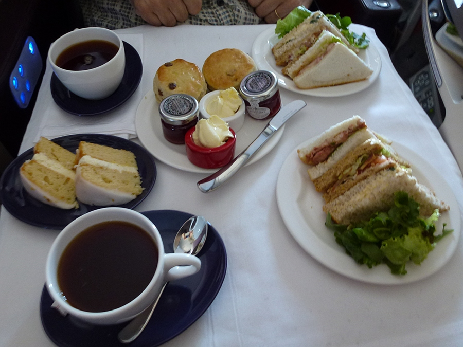 Cream Tea on Virgin Atlantic