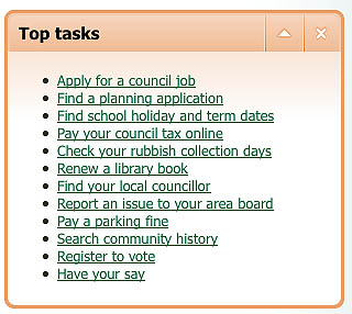 Top things people visit a council web site for
