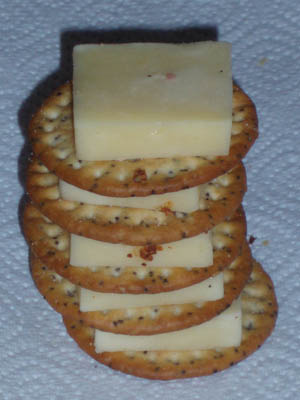The Leaning tower of Pisa (in biscuits and cheese)