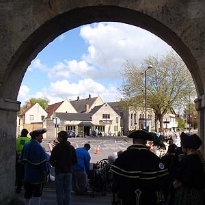 Through the arch at Melksham