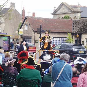 Town Crier at Melksham Market Place