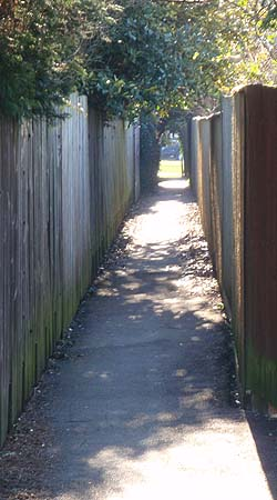 Footpath in town