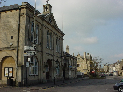 Melksham Town Hall on the Market Place