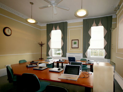 The training room at 404, The Spa - Well House Consultants headquarters