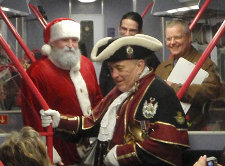 Santa and the Town Crier