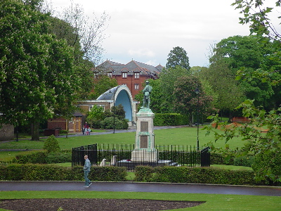 The park in Trowbridge