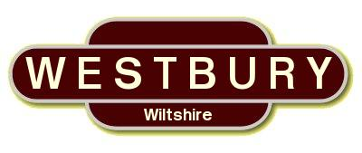 Westbury railway sign