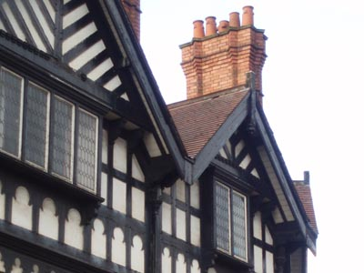 Tudor [or Mock Tudor] buildings in Leek