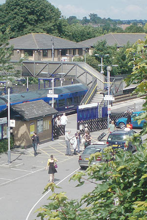 Trowbridge Station from Bridge Houes