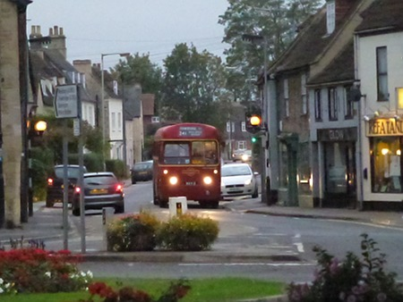 Vintage bus in Melksham