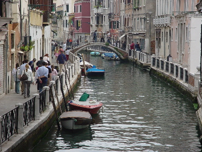 Venice - one of the narrower canals