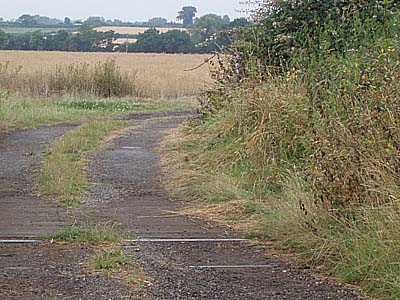 Track crosses railway - Verney Junction