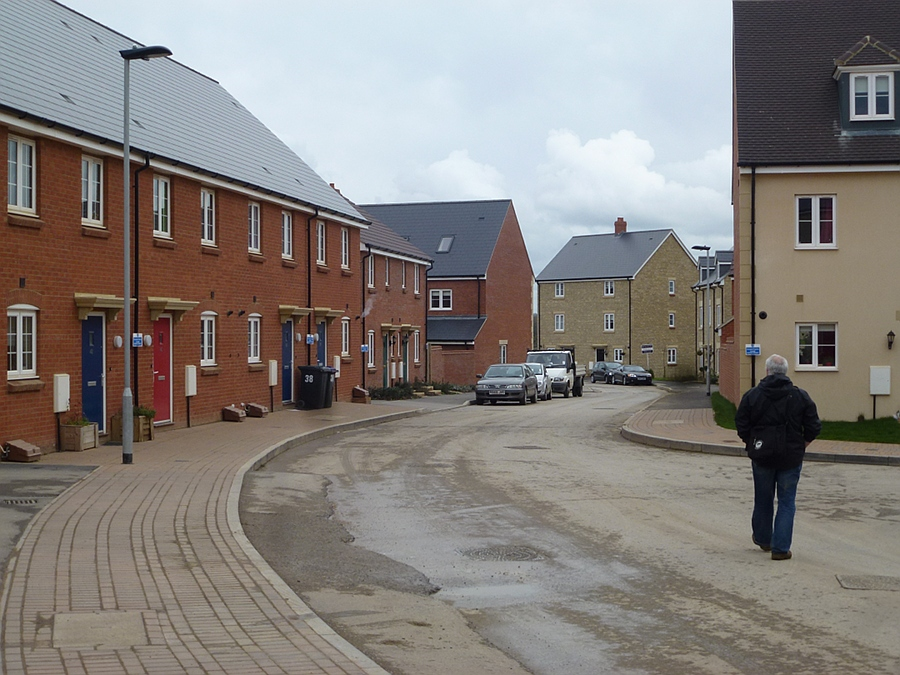 New street and houses almost complete