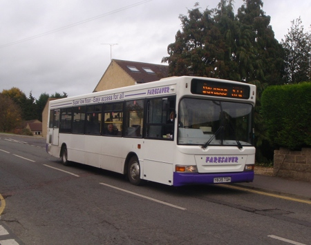 Faresaver bus on the Bath to Devizes route