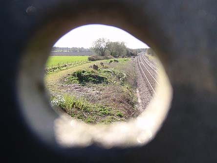 Through the bolt hole